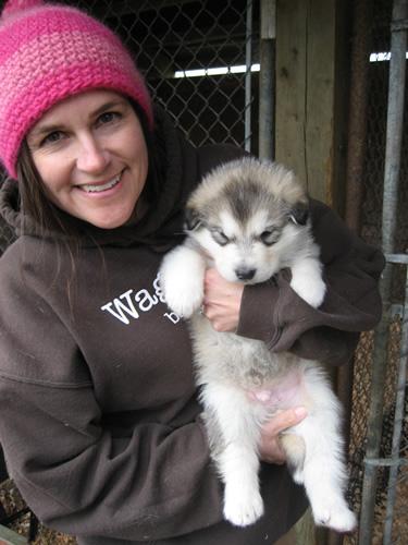 Inez with pup